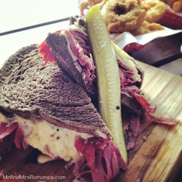 Mr & Mrs Romance - Insta diary - 16 reuben sandwich in the Tippler's Tap