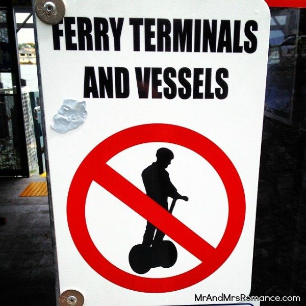 Mr & Mrs Romance - Insta diary - 1bAB1 total bewilderment at a ferry sign in Bris