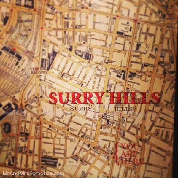 Mr & Mrs Romance - Insta diary - 3 Trinity map of Surry Hill