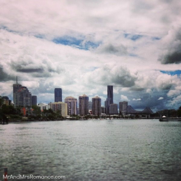 Mr & Mrs Romance - Insta diary - 9 Brisbane by boat