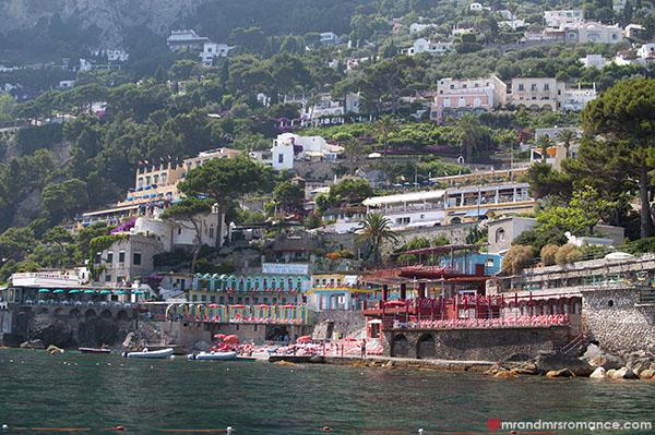 Mr and Mrs Romance - Capri coastline