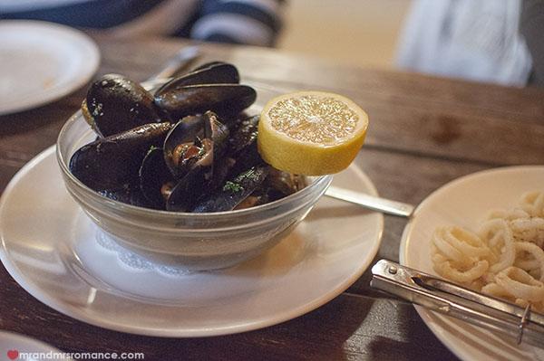 Mr and Mrs Romance - Fiorini's Restaurant - 5 mussels