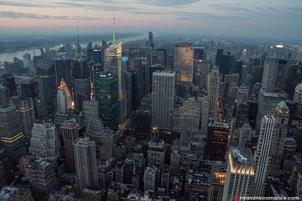 Mr and Mrs Romance - Manhattan views at dusk