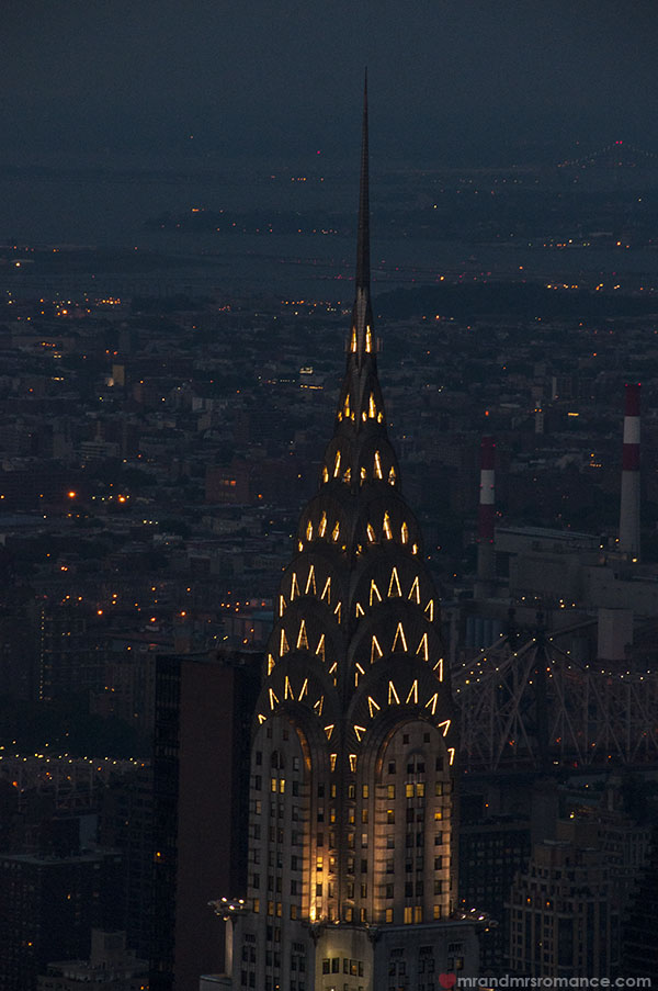 Mr and Mrs Romance - The Chrysler building at night