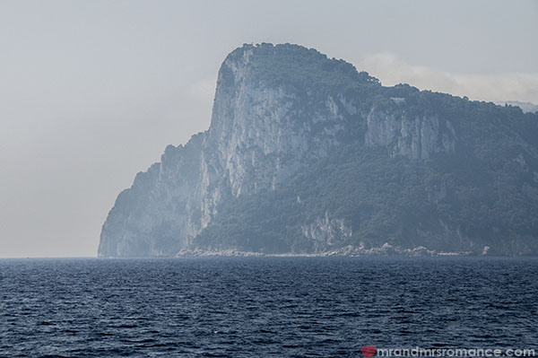 Mr and Mrs Romance - arriving at Capri