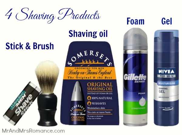 4 types of Shaving products