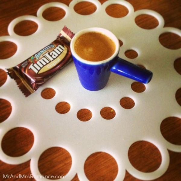 Mr & Mrs Romance - Insta Diary - 5 Tim Tam and espresso