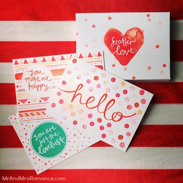 Mr & Mrs Romance - Insta Diary - 8aHR Scatter Love stationery from emmakatecreative