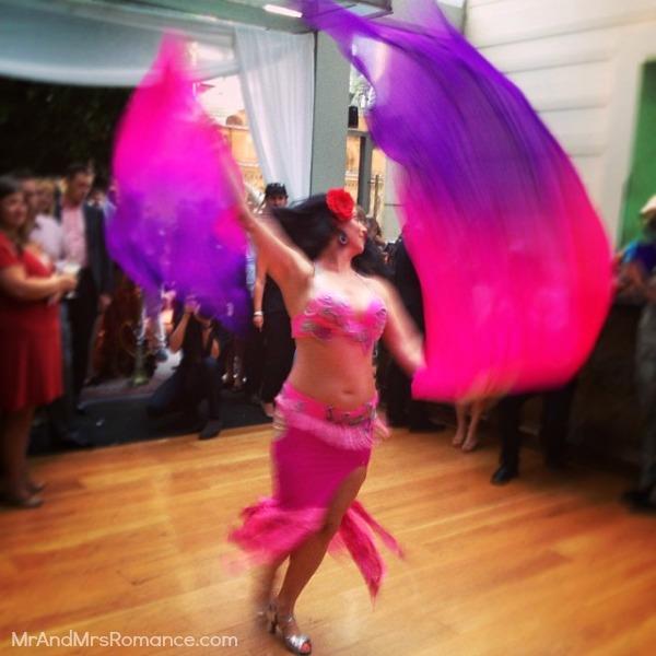 Mr & Mrs Romance - Insta diary - 11 belly dancer at the Hilton for Zeta Bar's media event