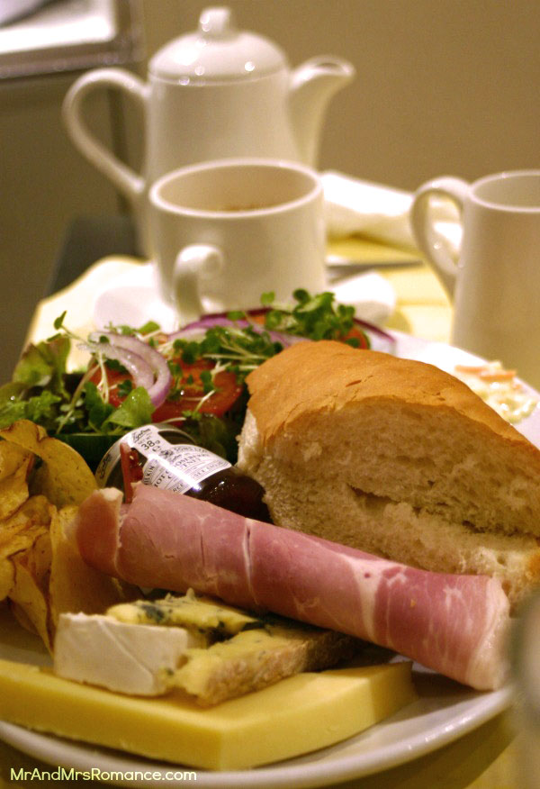 The classic ploughman's lunch