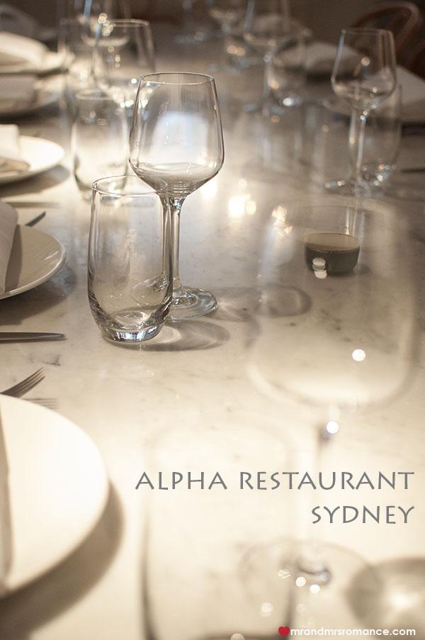 Mr and Mrs Romance - Alpha Restaurant Sydney