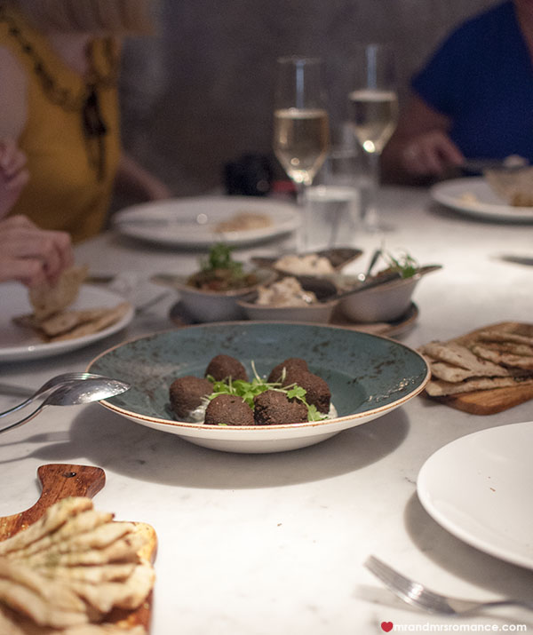 Mr and Mrs Romance - Alpha Restaurant felafel