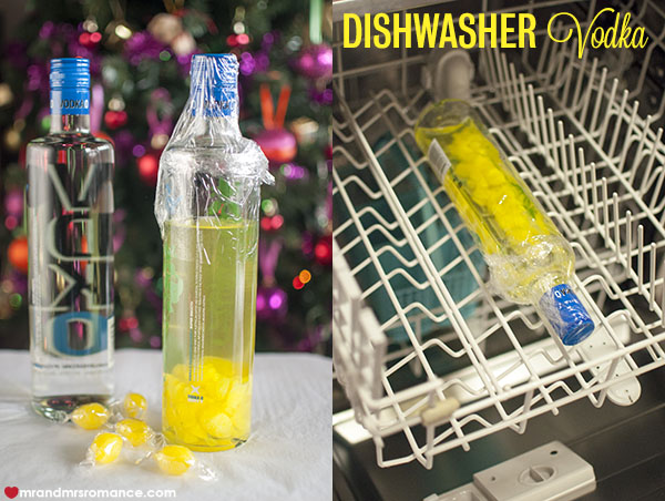 Mr and Mrs Romance - DIY dishwasher vodka