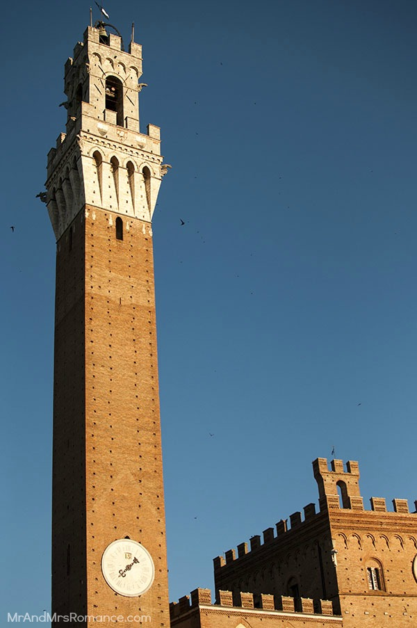 Mr and Mrs Romance - Siena - the tower