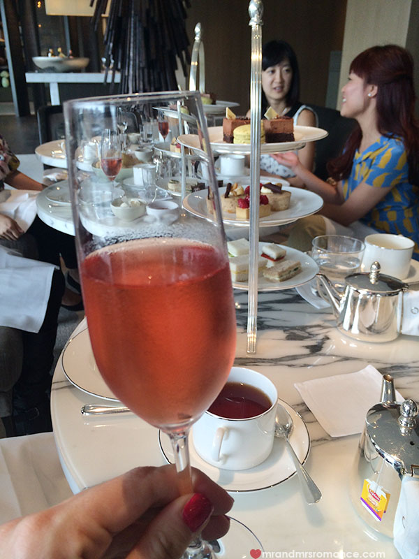 Champagne toasts at High Tea at the Park Hyatt Sydney