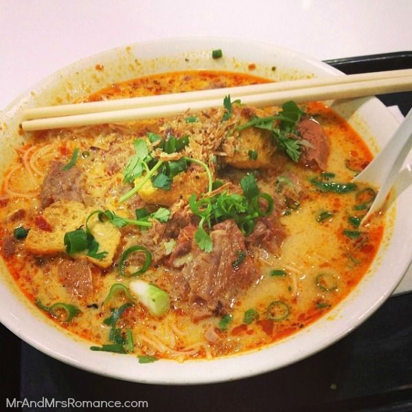 Mr & Mrs Romance - Insta Diary - 2 great beef laksa