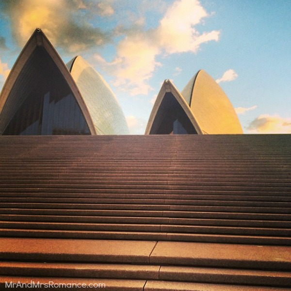 Mr & Mrs Romance - Insta Diary - 3bHR2 Opera House steps
