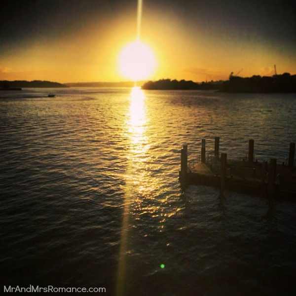 Mr & Mrs Romance - Insta Diary - 5 sunrise over the Harbour