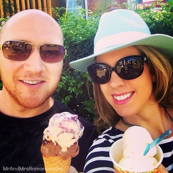 Mr & Mrs Romance - Insta Diary - 9aHR1 anniversary gelato