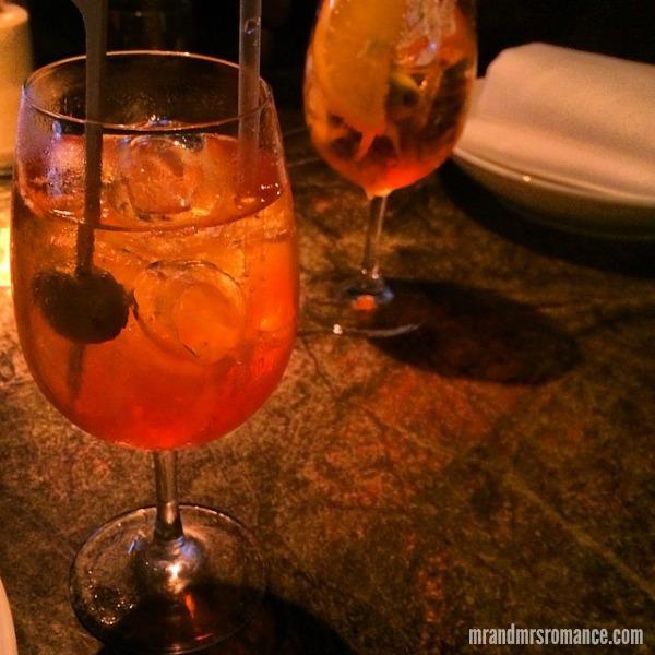 Mr & Mrs Romance - Intsa Diary - 3 spritz Aperol at A Tavola's progressive dinner