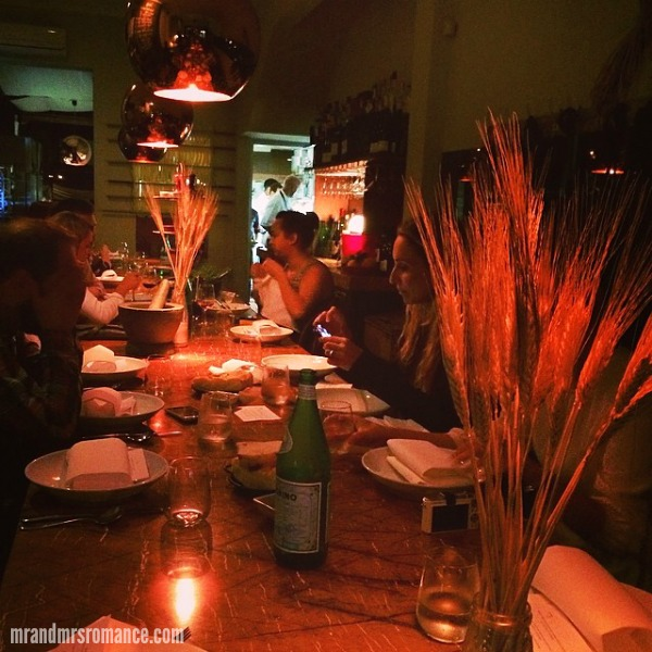 Mr & Mrs Romance - Intsa Diary - 4 A Tavola's progressive dinner Bondi