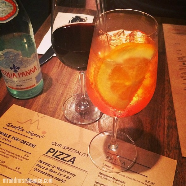 Mr & Mrs Romance - Intsa Diary - 8 spritz Aperol at Spakka Napoli