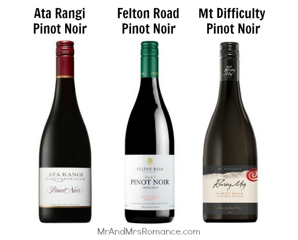 Mr & Mrs Romance - Wine of the Month - Pinot Noir St Andrew's choices