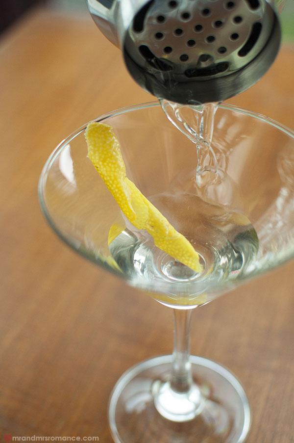 Mr and Mrs Romance - gin martini