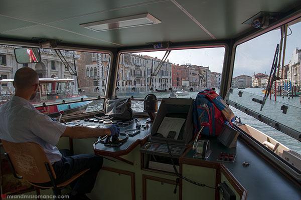 Inside the Vaporetto in Venice - Mr and Mrs Romance