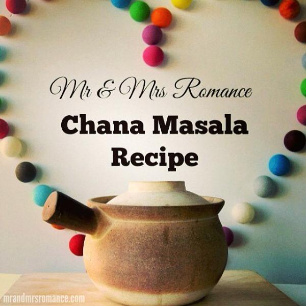 Mr & Mrs Romance - Insta Diary - 2 curry series Chana Masala