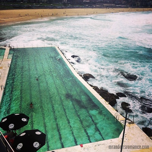 Mr & Mrs Romance - Insta Diary - 2bHR1 Mrs R at Mercedes Benz Fashion Week Aus Bondi Icebergs for Ellery