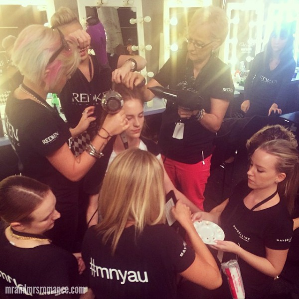 Mr & Mrs Romance - Insta Diary - 3bHR2 Mrs R at Mercedes Benz Fashion Week Aus behind the scenes