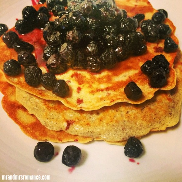 Mr & Mrs Romance - Insta Diary - 4 blueberry gf pancakes
