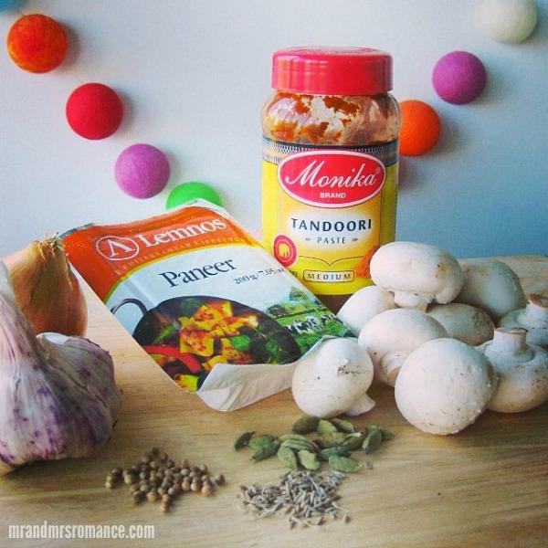 Mr & Mrs Romance - Insta Diary - 5 Paneer mushroom tandoori recipe