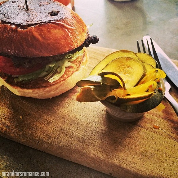 Mr & Mrs Romance - Insta Diary - 6 burger in Runcible Spoon