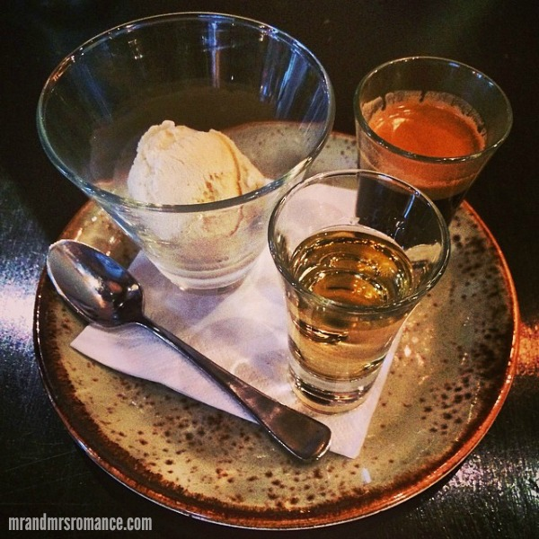 Mr & Mrs Romance - Insta Diary - 8 Mrs R's Frangelico affogato at Pony