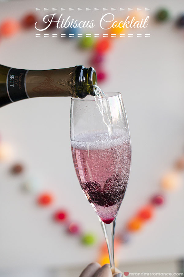 Mr and Mrs Romance - The Hibiscus champagne cocktail recipe
