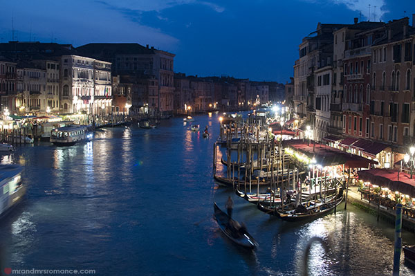 Venice at night - Mr and Mrs Romance
