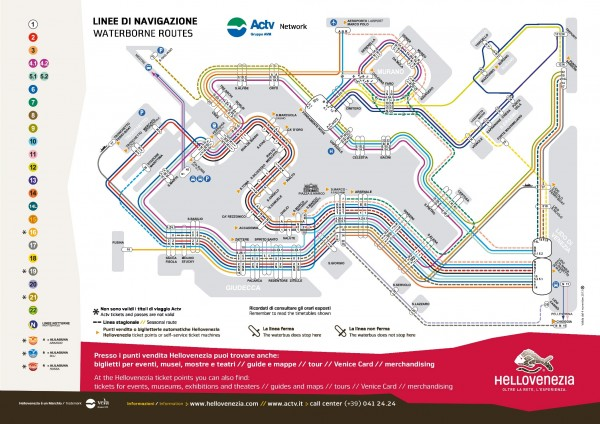 vaporetto service map