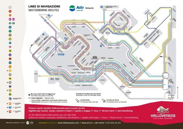 vaporetto service map