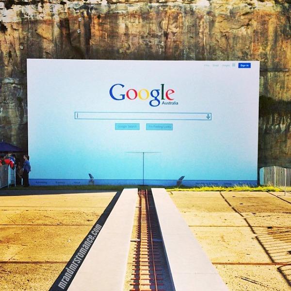 Mr & Mrs Romance - Insta Diary - 11 Google ghost train at Biennale