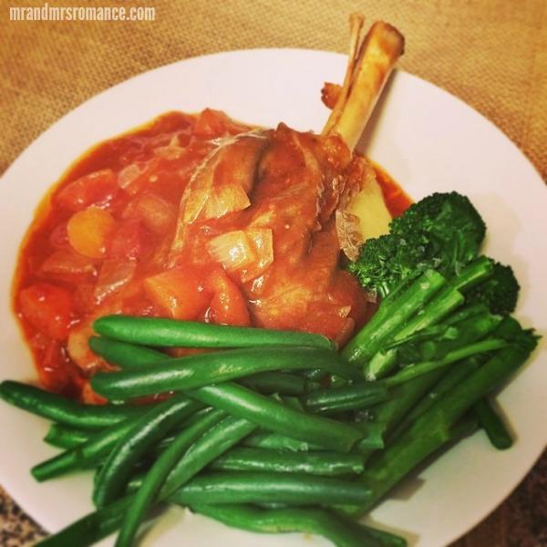 Mr & Mrs Romance - Insta Diary - 13 hearty lamb shank dinner