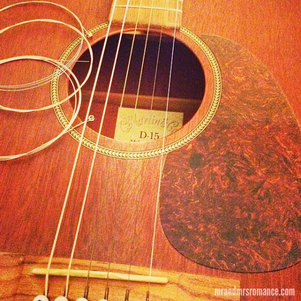 Mr & Mrs Romance - Insta Diary - 8 new guitar strings from MrsR