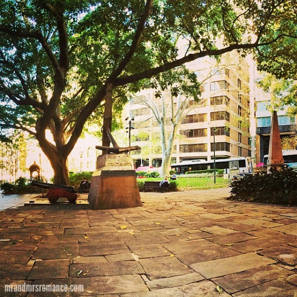 Mr & Mrs Romance - Insta diary - 2 Macquarie Place Park