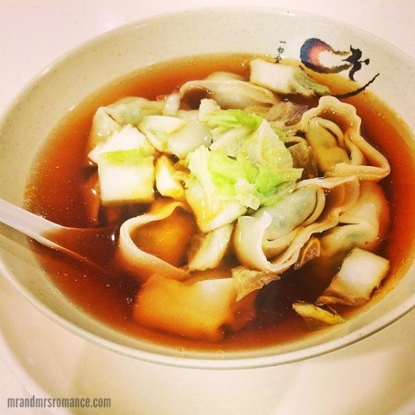 Mr & Mrs Romance - Insta diary - 2 Shanhai wanton soup from Yi's