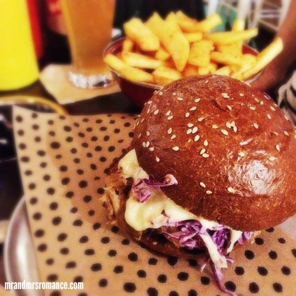 Mr & Mrs Romance - Insta diary - 3 Mrs R's pulled pork Chur Burger