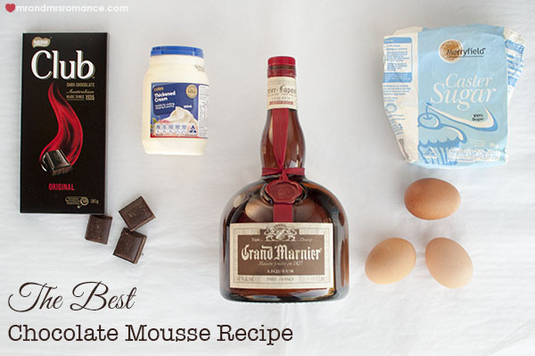Mr and Mrs Romance - Chocolate mousse recipe ingredients