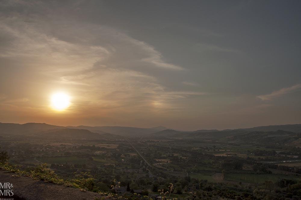 Orvieto, Umbria, Italy - Pozzo della Cava Mr and Mrs Romance - Italian sunset