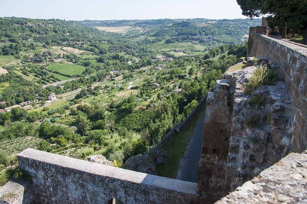 Orvieto, Umbria, Italy - Pozzo della Cava Mr and Mrs Romance - city walls