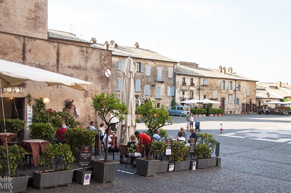 Orvieto, Umbria, Italy - Pozzo della Cava Mr and Mrs Romance - piazza